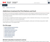 Addictions treatment for First Nations and Inuit
