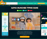 ALPHA MUNCHIES TYPING GAME