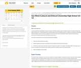 Cultural and Ethical Citizenship Guidebook - 10-12 (High School) Sun West