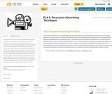 ELA 5- Persuasive Advertising Techniques