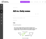 1.G All vs. Only some