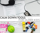 40+ Calm Down Tools for Older Kids {Free Printable}