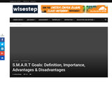 S.M.A.R.T Goals: Definition, Importance, Advantages & Disadvantages