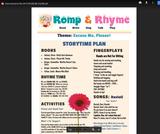 Romp & Rhyme Storytime Lesson Plan: Excuse Me, Please